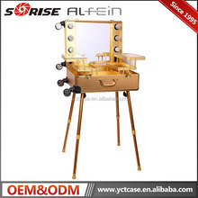 Alibaba Hot Sale Aluminum Professional Lighting Makeup Case With Stand Legs