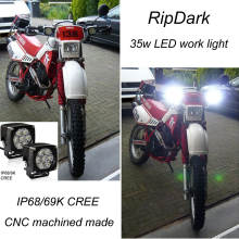 China supplier shenzhen LED latest technology super bright cob 4wd LED work light for snowmobile