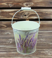 2015 garden decoration paper decal colored metal buckets wholesale