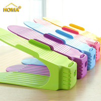 Adjustable Shoe Organizer Space Saving Plastic Shoe Slots for Home
