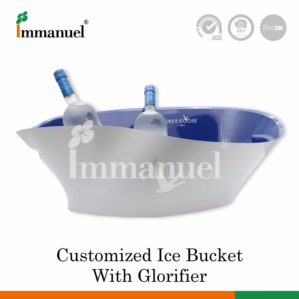 Best Selling Plastic Led Ice Bucket For Champagne