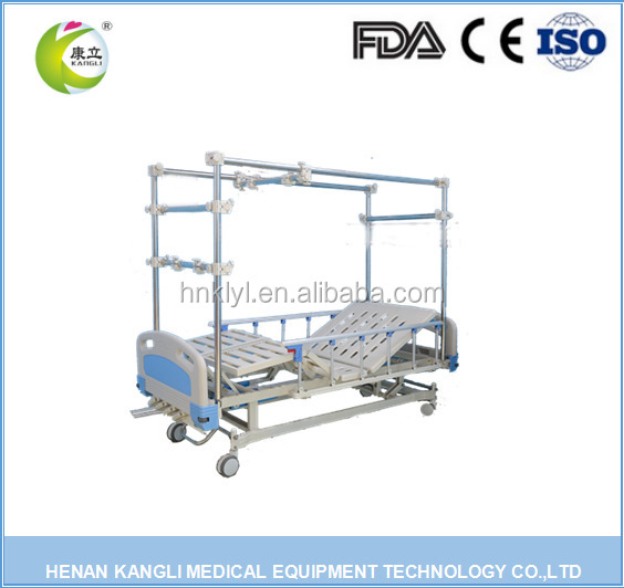 Competitive Price orthopaedics traction hospital medical bed with 3 rockers