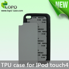 2014 Newest cheap Sublimation TPU case for i Pod Touch 4