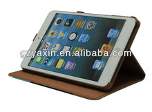 2014 Wholesale dual colors wallet rock leather case for ipad mini