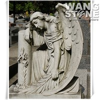 Life Size Mourning Stone Cemetery Angel Statue