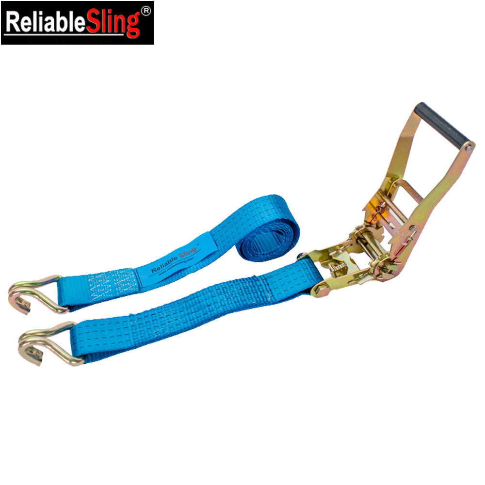 EN 12195-2 Comfort Plastic Covered Truck Ratchet Cargo Lashing Strap