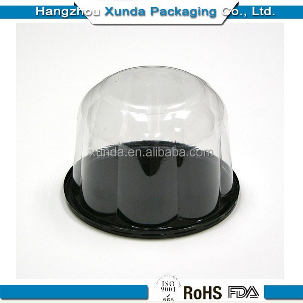 FDA popular clear plastic cake box with own logo