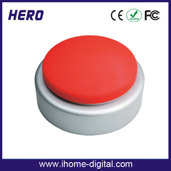 OEM logo printing programmable talking button custom music box movements for promotion