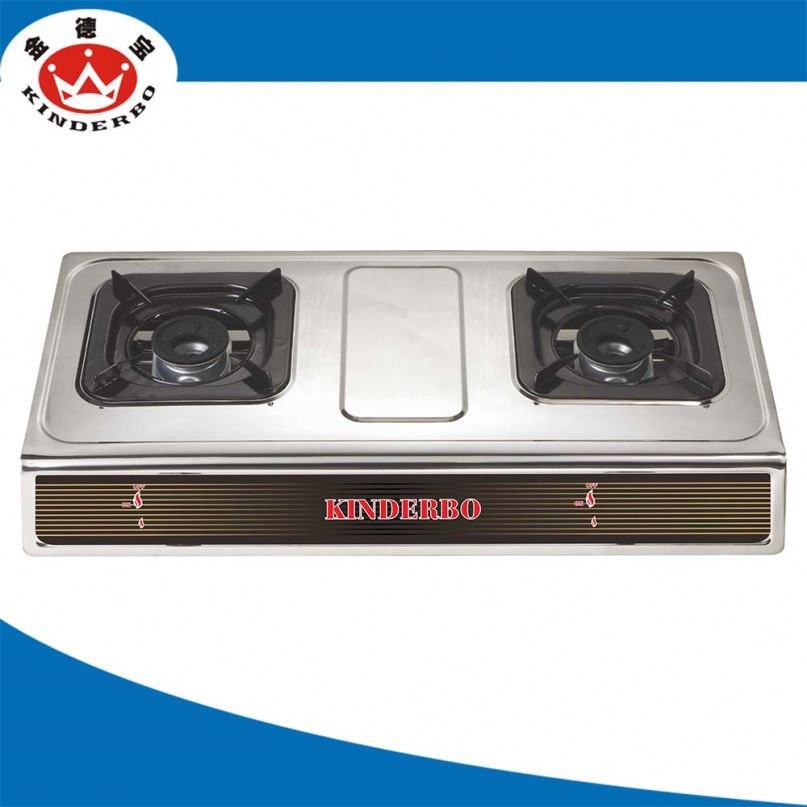 2 burner Camping table gas stove with oven