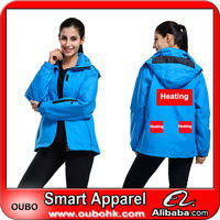 Low price wind resistant jacket with high-tech electric heating system battery heated clothing warm OUBOHK