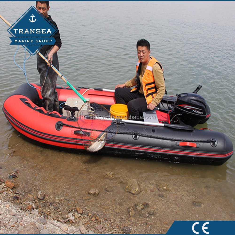CE approval PVC material deep V keel hull inflatable boat with outboard motor