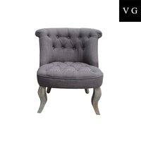 french style leisure chair button tufted mini chair
