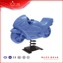 outdoor playground plastic motor spring ride