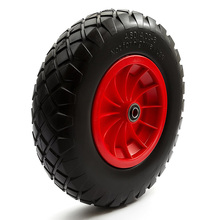 Wholesale 4.80 x 4.00-8 Flat Free solid Wheel barrow tire