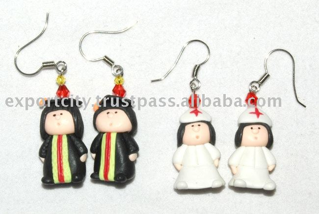 Nurse & Graduation clay earring for Kids, Teens