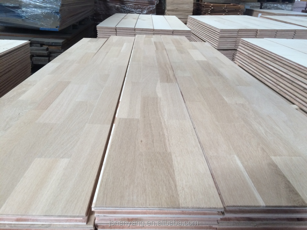 Oak unfinished color customized engineered parquet flooring