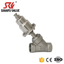 stainless steel pneumatic control piston angle seat valve DN15-DN100