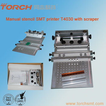 T4030 smt solder paste printing machine for PCB size 300*400mm