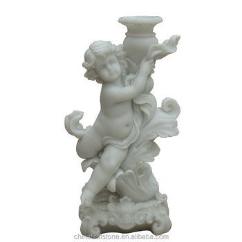 Low Price Decorative Hand Carved life-size angel white marble statue price for Sale
