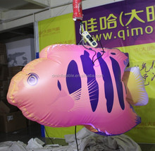 hanging inflatable LED lighting fish balloon for sale
