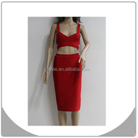online shopping two piece fashion bandage dress christmas on sale
