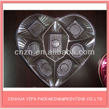 Heart-shape chocolate clear plastic tray pckaging