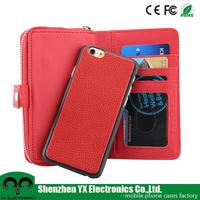 wallet detachable flip slide universal leather case for for 4.3 inch/ 4.5 inch/5.0 inch