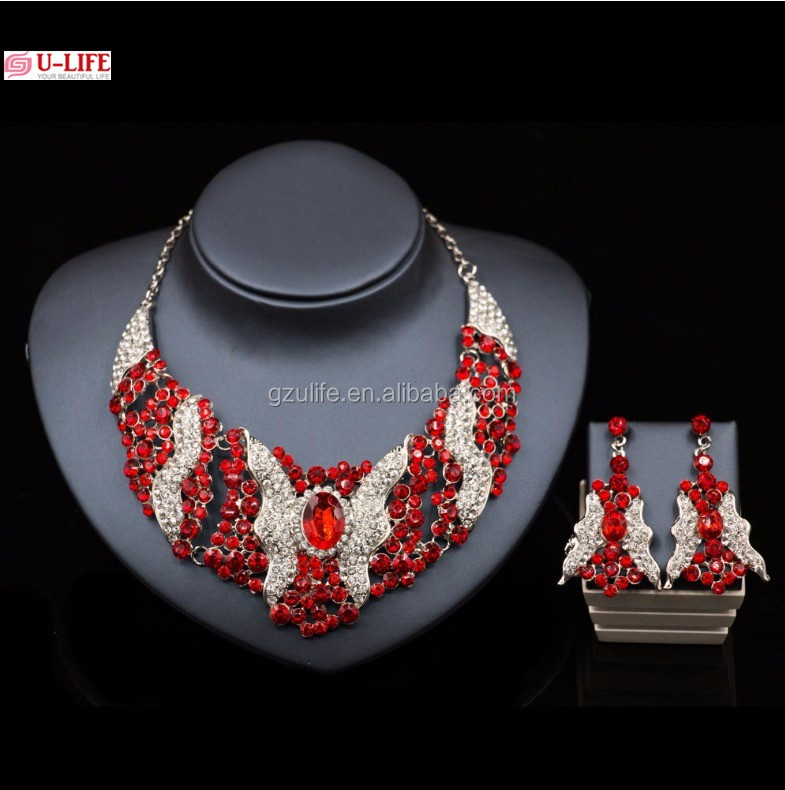 Crystal jewelry sets turquoise bridal jewelry set for African Wedding(J1-4)