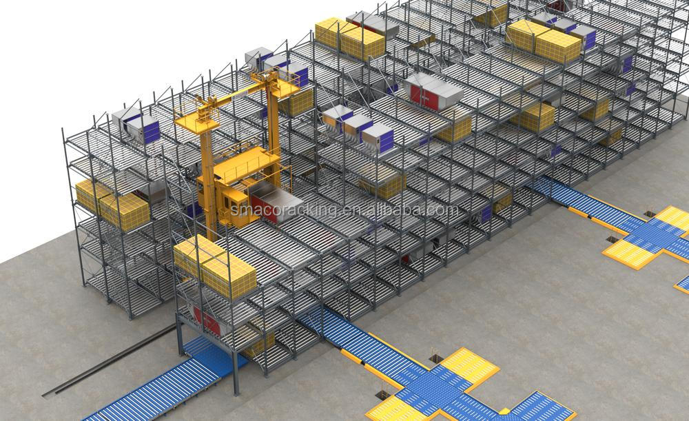 Heavy Duty Unit Load Warehouse Solution ASRS Racking for  E-commerce Operations