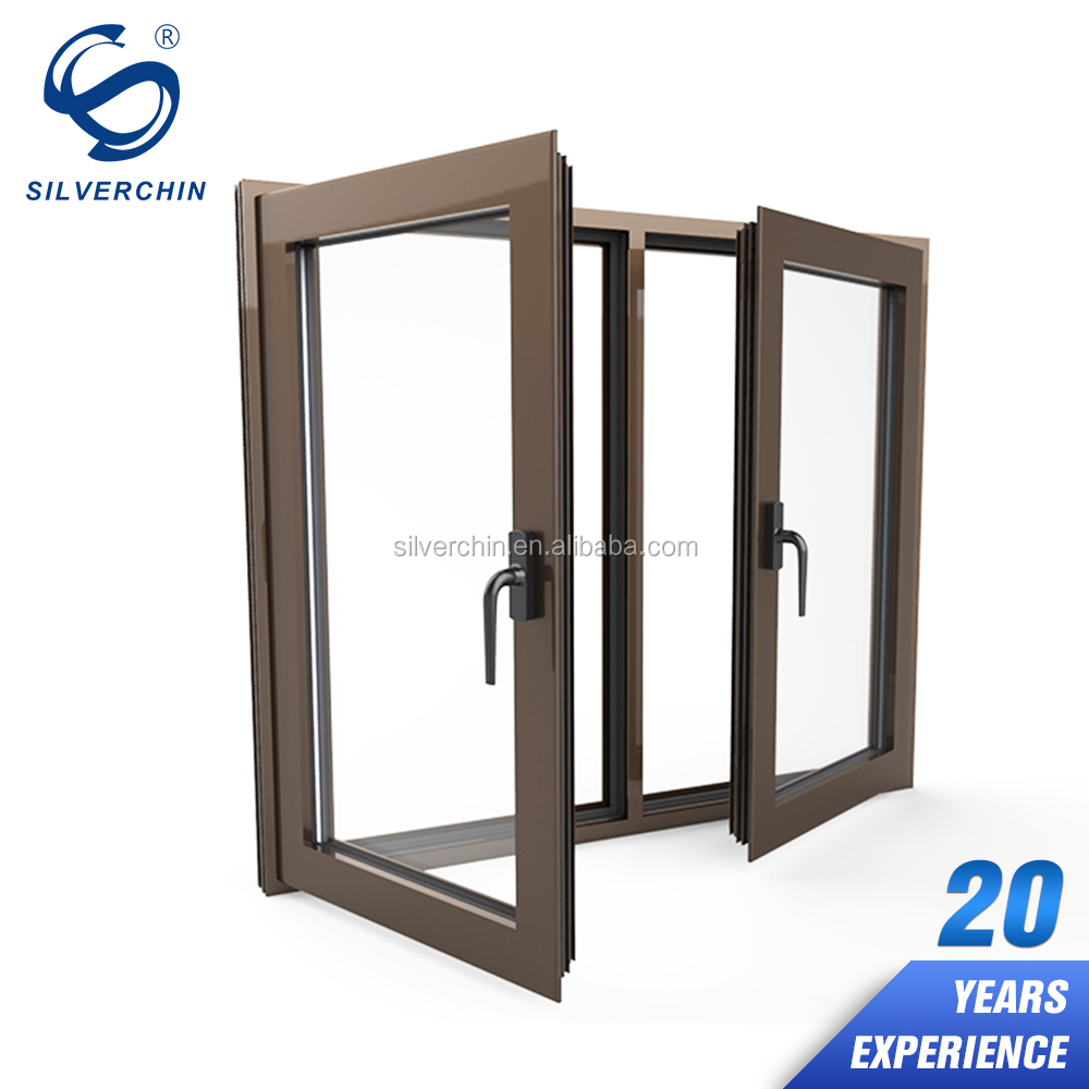 Cheap Price List Glass Aluminium Windows Burglar Proof Turn Down