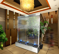 glass waterfall commercial partition wall