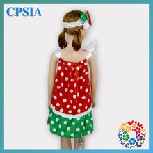 Fancy Fashion European Style Girls Puffy Red Dresses For Kids Cheap