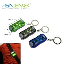 Hot selling 3 SMD led keychain light with clip warning light