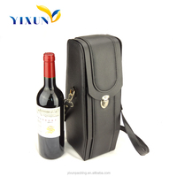China manufacturer supply one bottle leather wine carrier