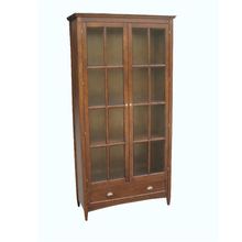 top sell classic wood antique bookcase with glass doors