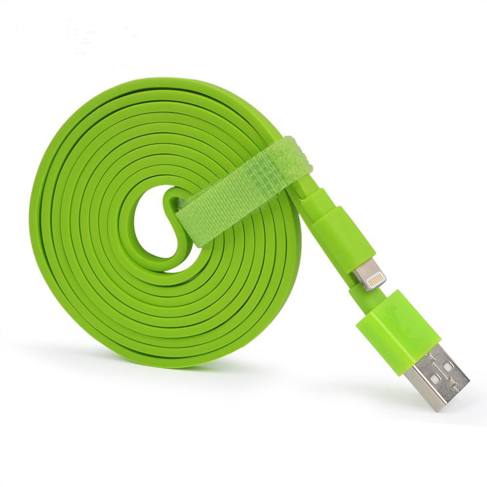MFi certified manufacturer best selling pvc flat mfi usb cable charging cord for iphone X