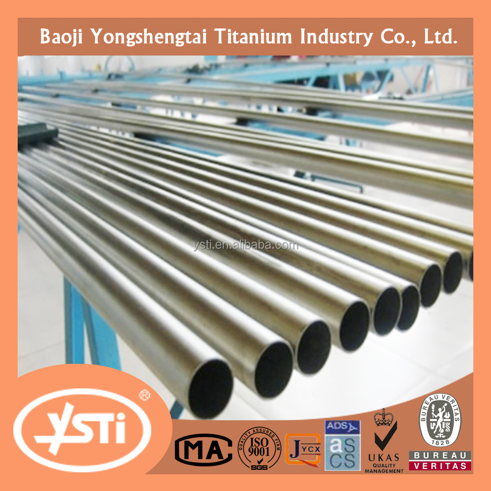 Grade2 Gr2 OD20 x THK0.9 x 3000mm Titanium Seamless tube for exhaust pipe in car ASTM B338,ASTM B337,ASTM B861