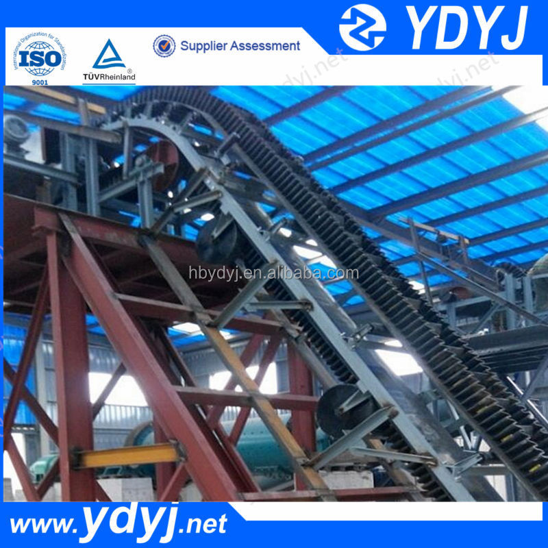 ISO standard high inclination angle belt conveyor for sale