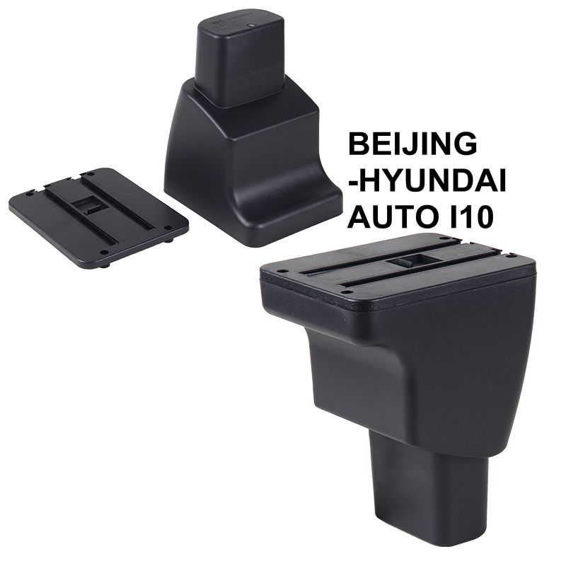 For BEIJING-HYUNDAI <strong>AUTO</strong> I10 Car Multifunction Armrest Center Console Organizer Double Storage Boxes With LED Light Ashtray <strong>Auto</strong>