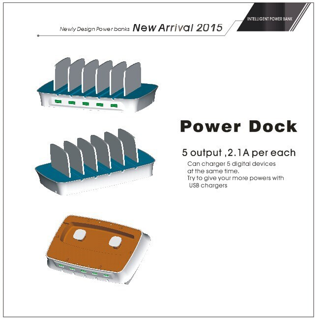 2015 Now Products OEM Power Station With 5 USB Output Ports 10A for iphone5,HTC,Samsung,Blackberry
