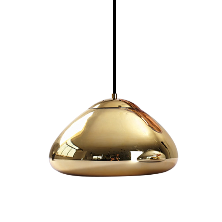 High quality chrome industrial restaurant decoration glass pendant lamp