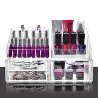 transparent nail polish display case/acrylic nail polish storage