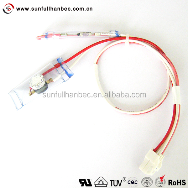 Bi Metal Thermostat Fuse 4 Wires for wholesale refrigerator wiring online buy best refrigerator Freezer Defrost Wiring Schematic at panicattacktreatment.co