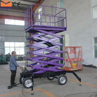 6m scissor lift on tracks