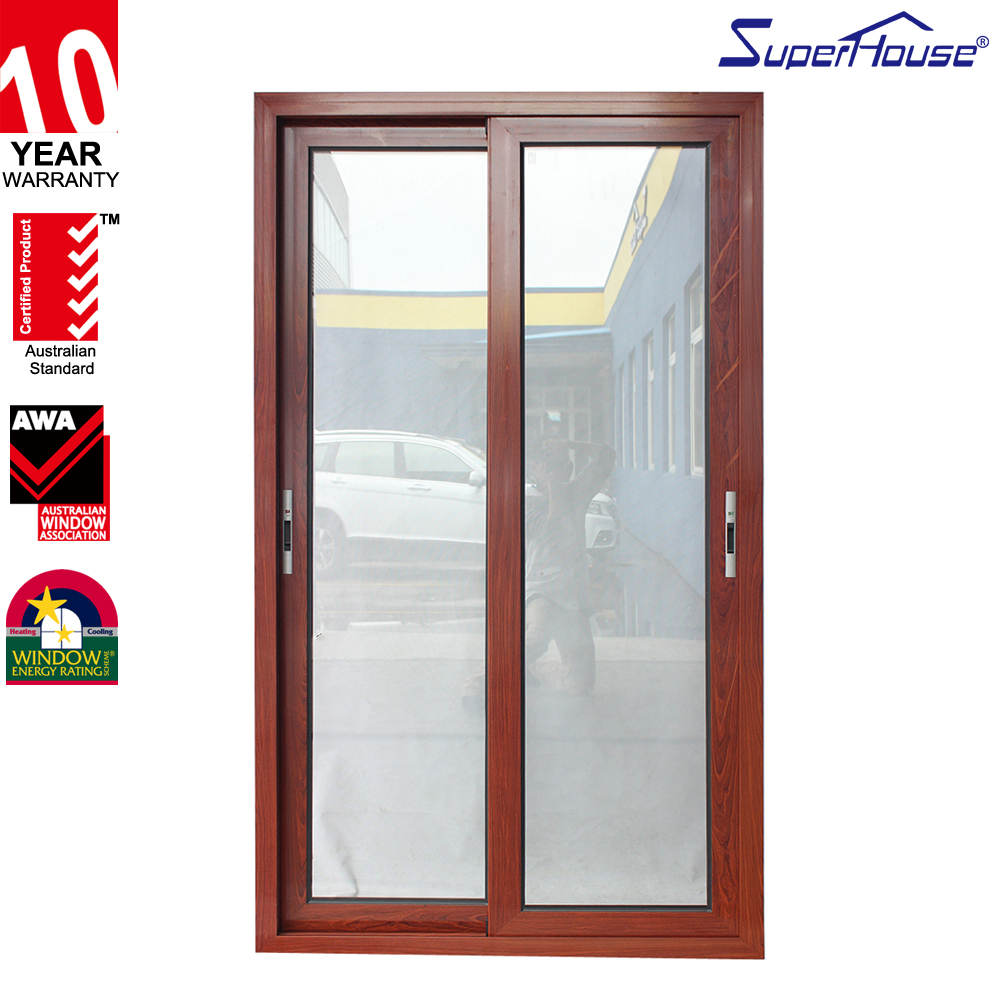 China manufacture sliding fly screen door aluminium clad wood sliding screen doors
