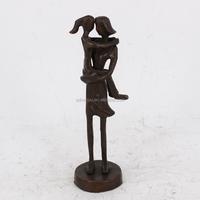 Home Decor Handicraft Cast Iron Bronze Metal Human Being Sculpture