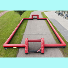 high quality inflatable football boarding inflatable soccer pitch tennis court