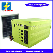 Shenzhen factory Solar Light Station 20W Solar System 20W Poly Panel+12AH Battery+3W LED Lamps+Charger Cable