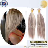 Niceborn Guangzhou supply human hair,100 virgin brazilian human hair weave color 8/27 for beauty women