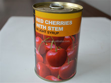 canned fruits / Canned Red Cherry in light syrup 425g ,easy open lid